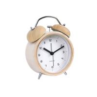 sveglia classic bell legno con quadrante binaco