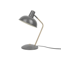 lampada da tavolo hood metallo opaco grigio topo