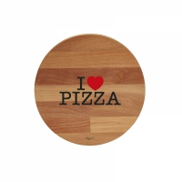 tagliere tondo i love pizza / black & red