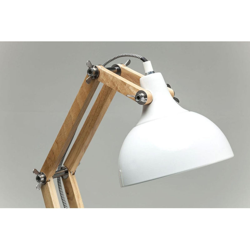 lampada da tavolo work station bianco