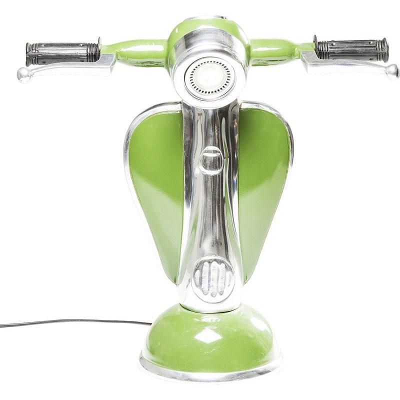Lampada da tavolo scooter verde led kare design domustore luxury store for Lampada da tavolo verde