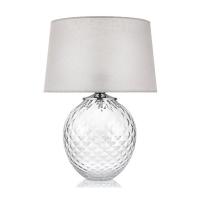 lampada vetro trasparente in fiore
