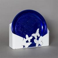 porta piatti farfalle bianco