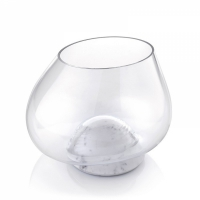 centrotavola 20cm in marmo di carrara e vetro soffiato