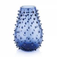vaso blu 32cm gothic
