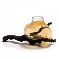 sedimenti vaso ambra forma bassa
