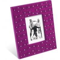 portafoto in velluto diadema viola