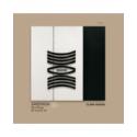 quadro bianco c/dec e fascia nera 70x70