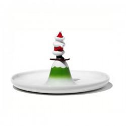 Piatto dolce scia natalino