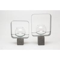 coppia di 2 vasi cadre sur pied h29+h22