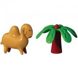 statuette presepe dromedario con palma