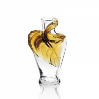 vaso foglia ambra