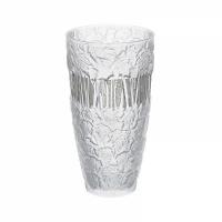 vaso placcato in platino paesaggio invernale