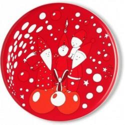 Piatto panettone natalizio rosso