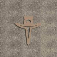 Croce in mdf bronzo 40cm