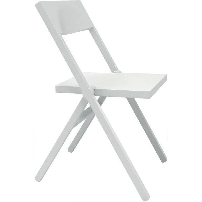 Sedia bianca moderna pieghevole Piana alessi | DomuStore ...
