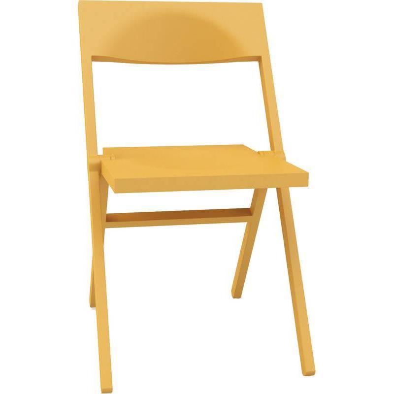 sedia gialla moderna pieghevole Piana