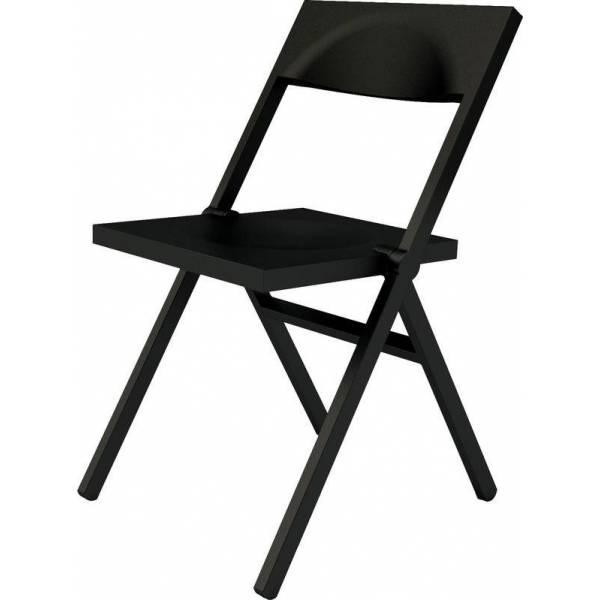 sedia nera moderna pieghevole Piana