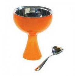 coppa con cucchiaino arancio big love