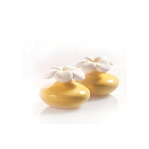 Bomboniera diffusore fiore giallo air design (coppia)