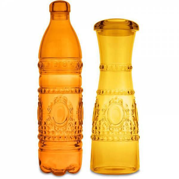set bottiglia arancio & caraffa giallo