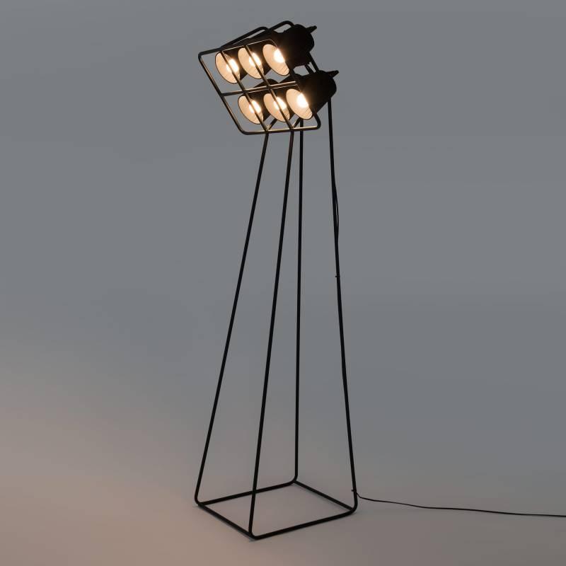 lampada nera da terra multilamp