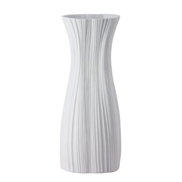 Vaso bianco 38cm plissee