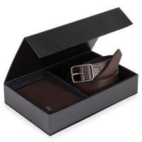 Confezione regalo portafoglio e cintura testa di moro