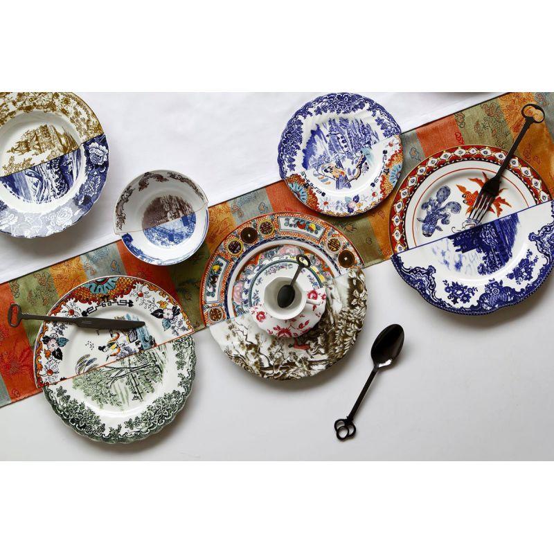 piatto piano in porcellana hybrid isaura