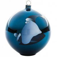 Palla albero di natale babbo natale blue christmas