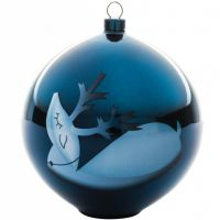 Palla albero di natale renna blue christmas