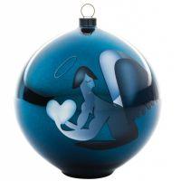 Palla albero di natale angelo blue christmas