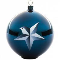 Palla albero di natale stella blue christmas
