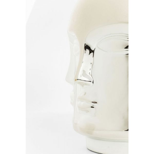 vaso decorativo faces argento