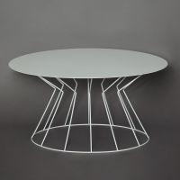 tavolino ovale bianco filo