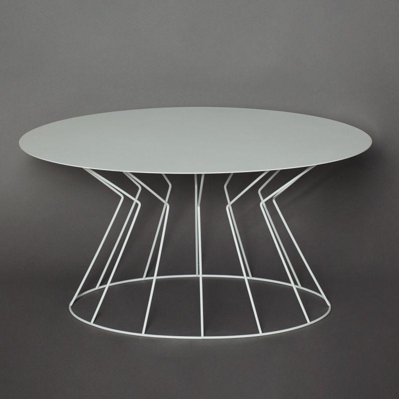 Tavolino ovale bianco filo arti e mestieri | DomuStore, Luxury Store