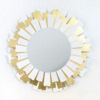 specchio lux bianco e oro