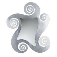 specchio circe parete grande argento