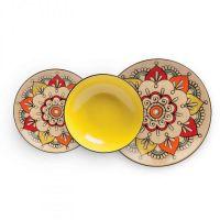 set 3 piatti gialli mediterraneo
