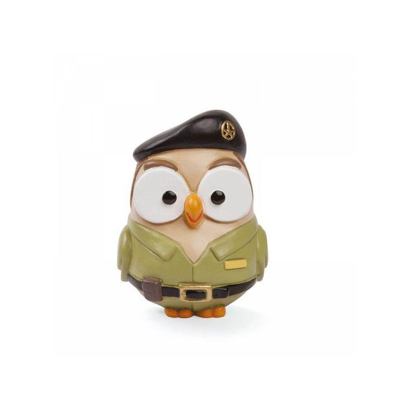 Bomboniera statuetta gufo esercito goofi