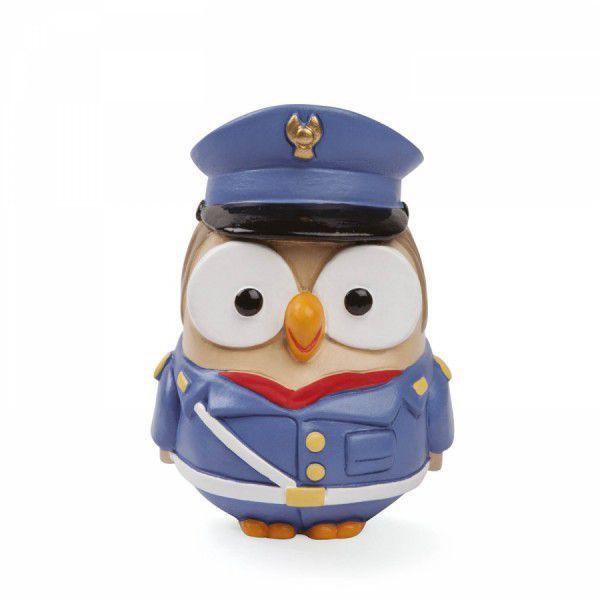 Bomboniera statuetta gufo polizia goofi