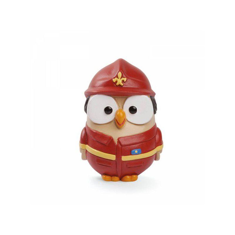 Bomboniera statuetta gufo pompiere goofi