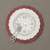 orologio posto tavola bordeaux/bianco