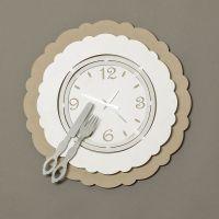 orologio posto tavola beige/bianco