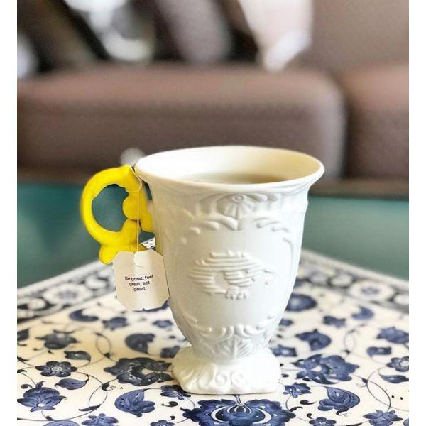 tazza mug manico giallo i-wares