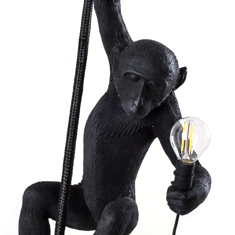 lampadario da esterno nero monkey lamp
