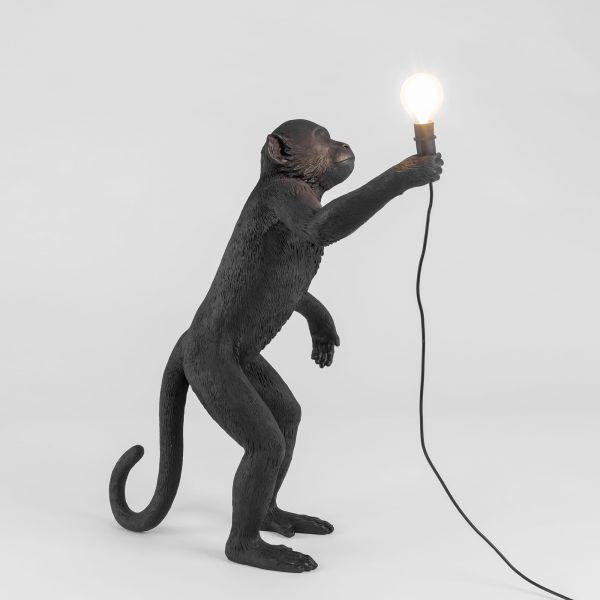 Lampada scimmia nera monkey lamp