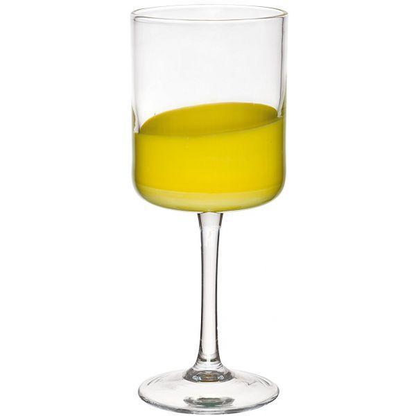 set 6 bicchieri gialli spot collection