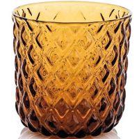 net set 6 pezzi bicchiere acqua ambra cl30