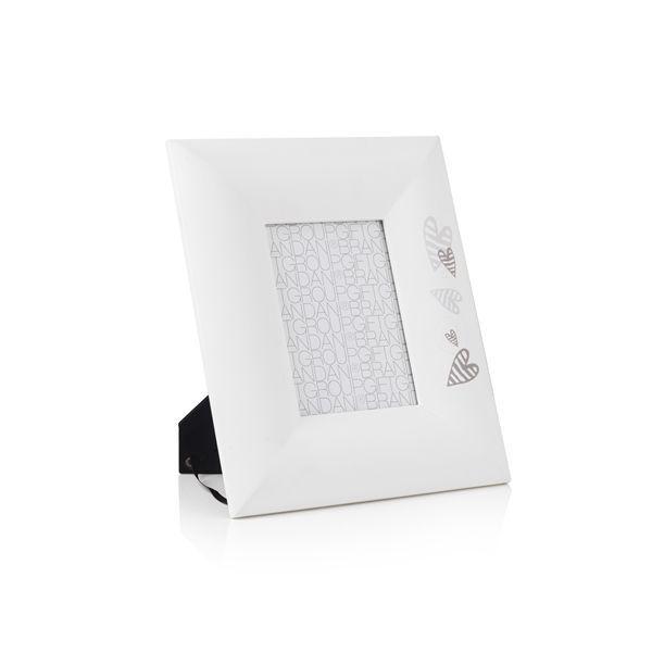 portafoto bianco 18cm batticuore